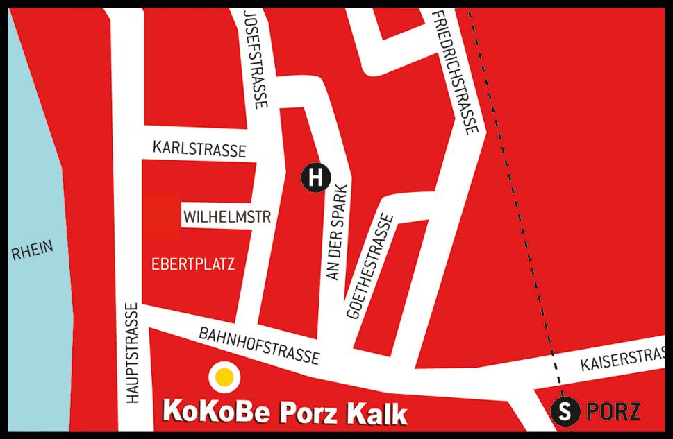 Karte zu KoKoBe Porz Kalk